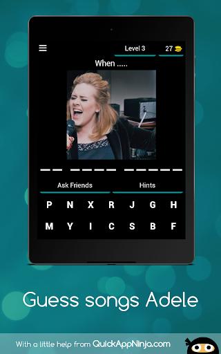 Quiz songs Adele apkmind screenshots 13