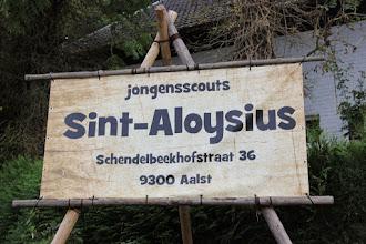 Photo: Jubileumfeest Scouts Sint-Aloysius, aan de lokalen in de Schendelbeekhofstraat (4 oktober 2014).