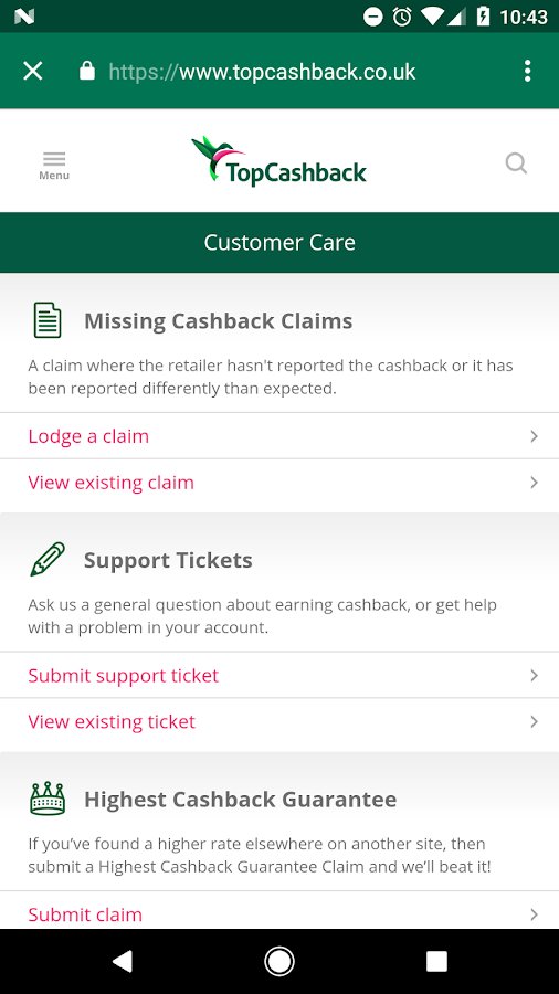 TopCashback- screenshot