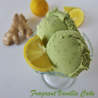 Raw Lemon Ginger Green Tea Ice Cream