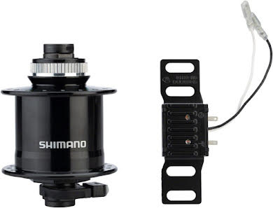 Shimano DH-UR705-3D Dynamo Centerlock Disc Front Hub Black alternate image 0