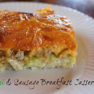 Zucchini and Sausage Breakfast Casserole.
