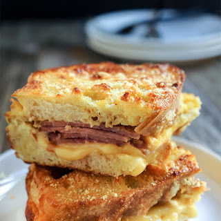 Tripe cheese stuffed French toast