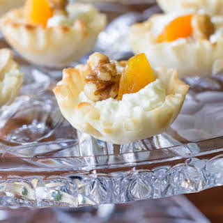 Apricot, Walnut, and Goat Cheese Appetizer Bites.