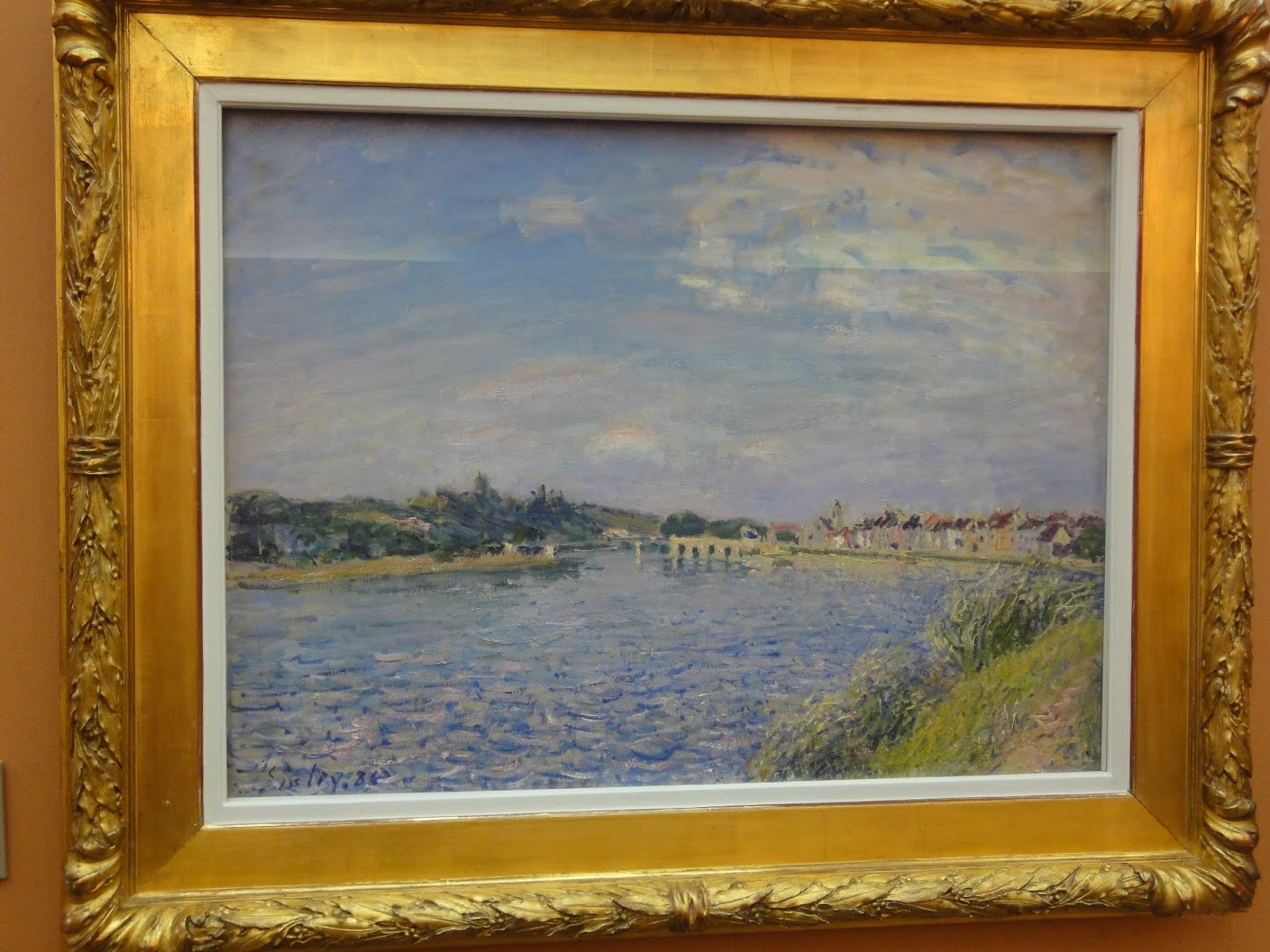 Saint-Mammès-sur-le-Loing d'Alfred Sisley au Musée des Beaux-Arts à Dijon