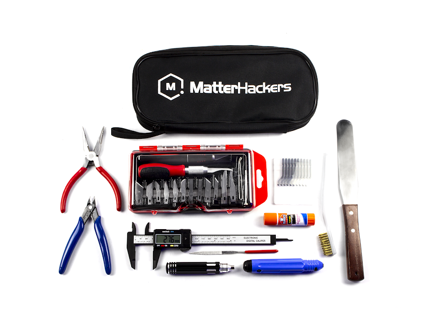 Find common, essential tools you will need throughout your 3D printing experience in our MatterHackers 3D Printing Tool Kit Premium!