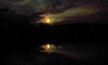 Photo: The moon over Kögelweiher