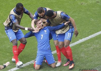 Frankrijk wint op EK 2016 van Ierland dankzij twee doelpunten van Griezmann