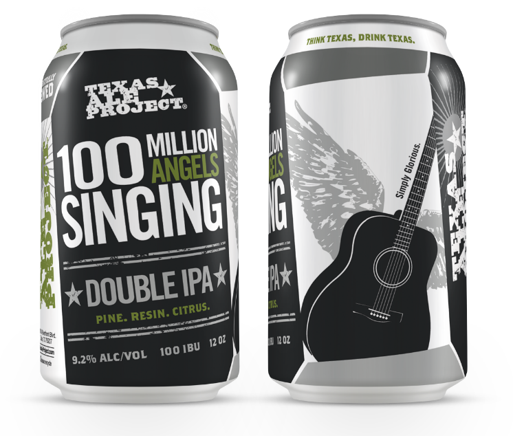 Logo of Texas Ale Project 100 Million Angels Singing