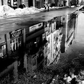 Big puddle by Zoran Nikolic - City,  Street & Park  Street Scenes