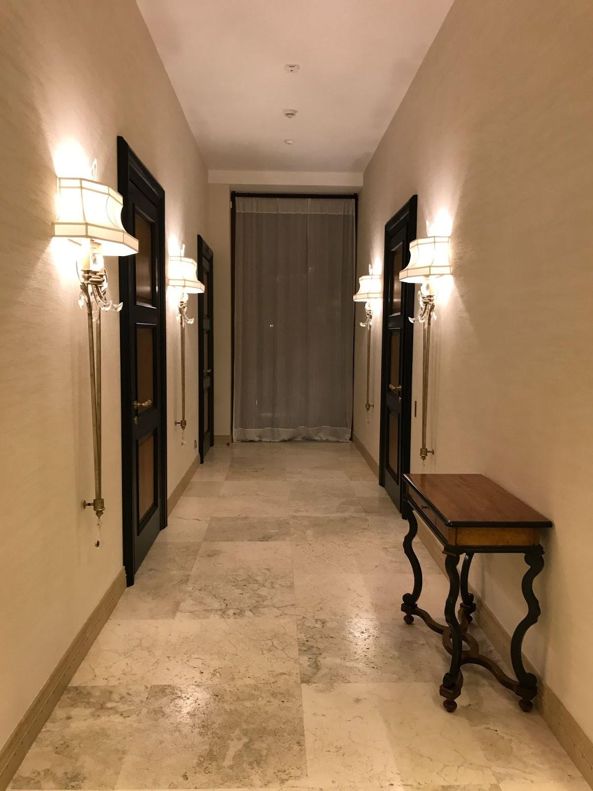 Textured flooring or wood walls