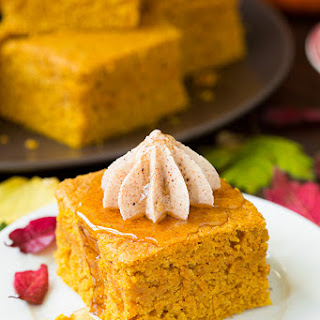 Pumpkin Cornbread with Cinnamon Honey Butter