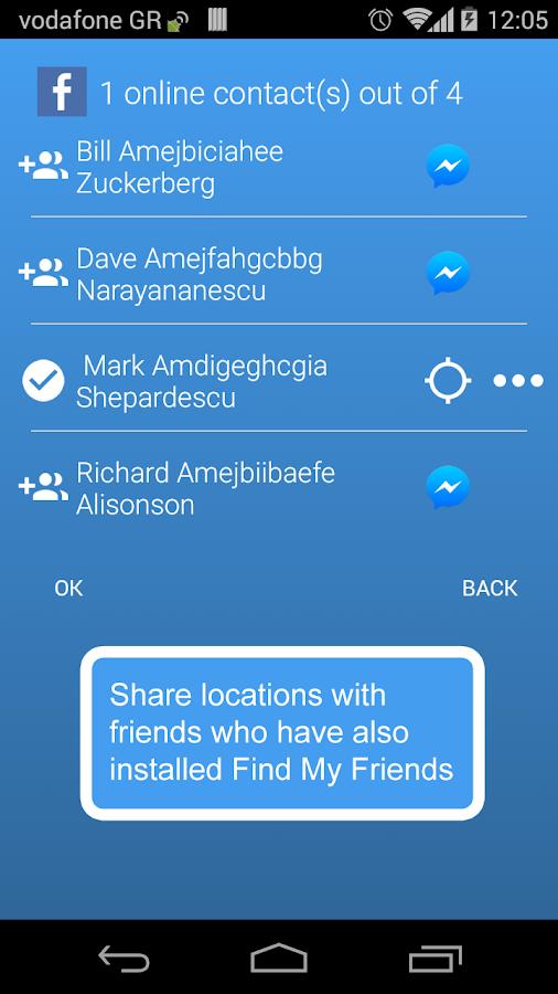 Find My Friends- screenshot
