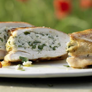 Grilled Stuffed Chicken Breasts.