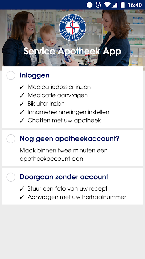 De Service Apotheek App- screenshot
