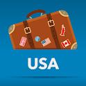 USA mapa off-line guia icon