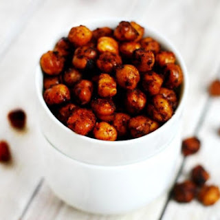 Roasted Chickpeas with Chipotle and Lime (Vegan, Gluten-Free, Nut-Free).
