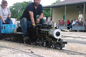 Photo: Ken Rhodes on Roy Tomlin's 2-6-2.  HALS-SLWS 2009-0523