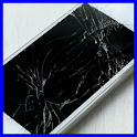 Crack your phone screen prank icon