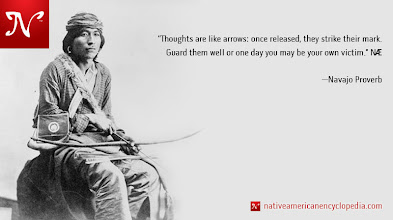 Photo: Thoughts are like arrows: once released, they strike their mark. Guard them well or one day you may be your own victim. —Navajo Proverb