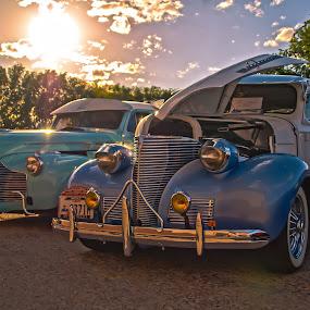 Deuce Amigos by Boyd Smith - Transportation Automobiles ( custom cars, low rider, white walls, chevy, pontiac )