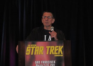 Photo: Spock Speaks!  He reads poetry too...