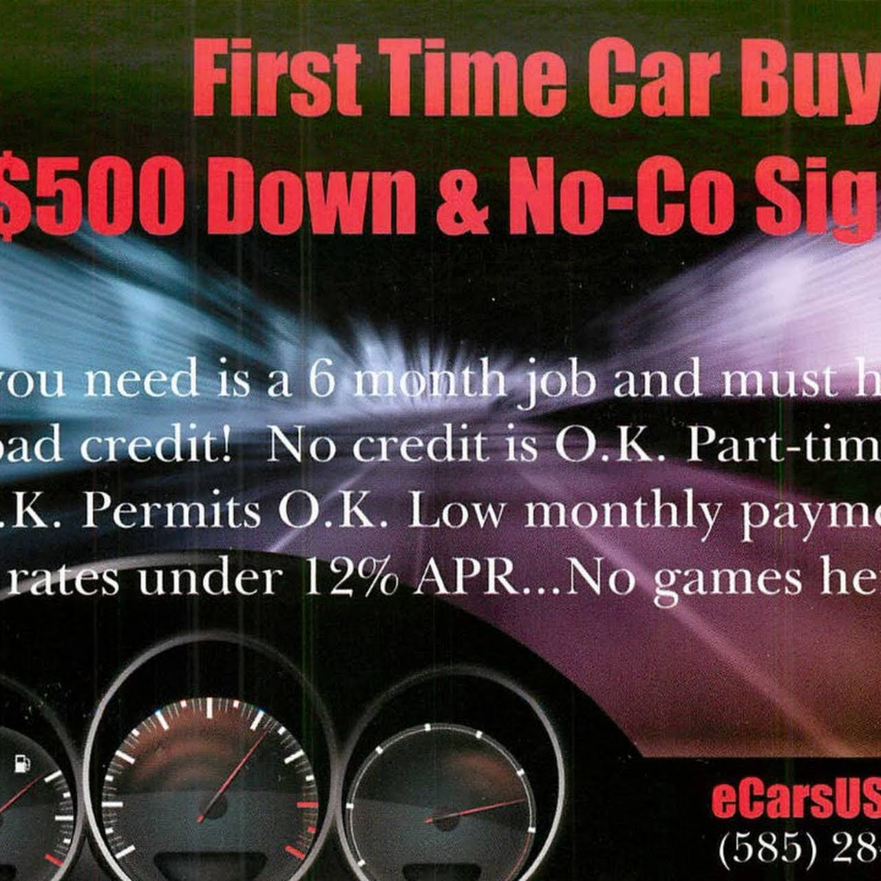 No Credit No Cosigner Car Dealerships >> Ecarsusa Com First Time Car Buyers Financing Available