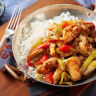 Spicy Chicken And Leek Stir-fry