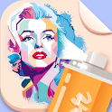 Spray Paint Art : Celebrity Painting Stencil Art icon