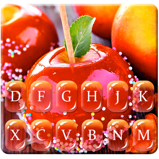 Red Donut Apple Keyboard Theme Icon