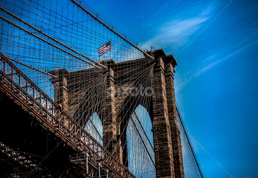 by Mark Bernat - Buildings & Architecture Bridges & Suspended Structures ( brooklyn bridge, sky )