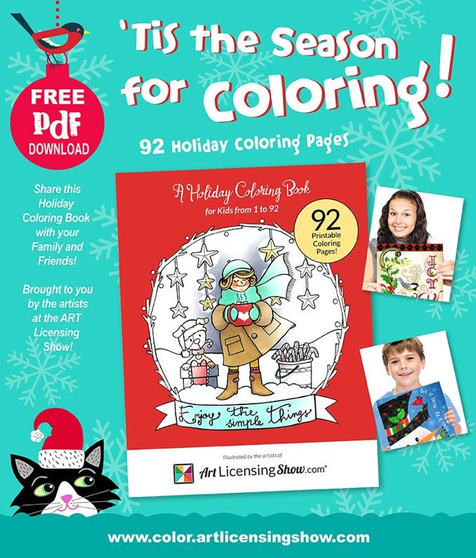 Free Adult Coloring Book Pdf Christmas New Years Hanukkah Adult