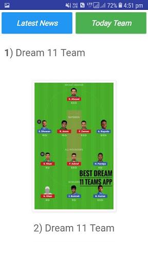 Best Dream 11 Teams 4.4.4.4 screenshots 4
