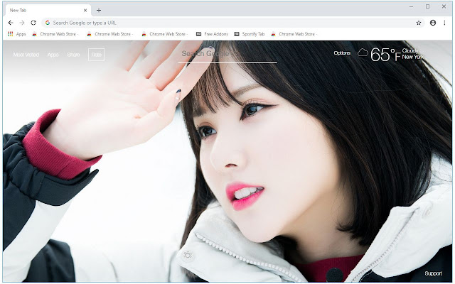 Kpop GFriend HD Wallpapers New Tab Themes