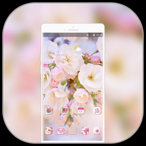 Theme for pure cherry blossom wallpaper icon