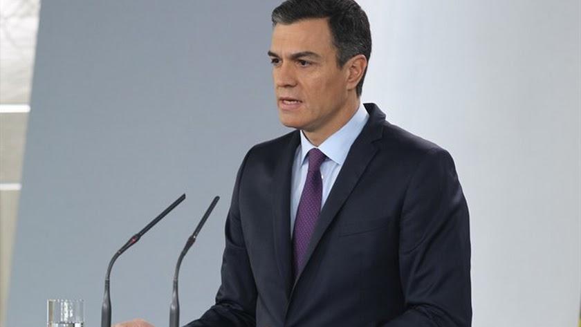 Pedro Sánchez, este lunes. Eduardo Parra