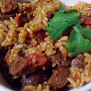 Spanish Rice with Chorizo.