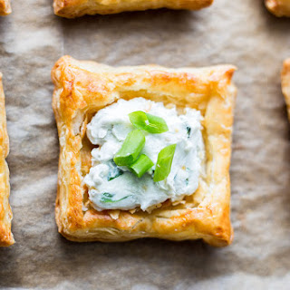Creamy Blue Cheese Puff Pastry Squares.