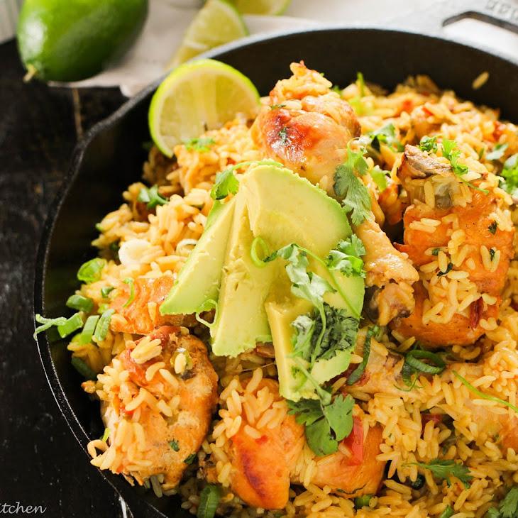 Arroz con Pollo...One Pot Mexican Rice and Chicken