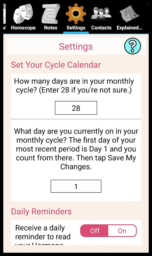 Hormone Horoscope Teen Lite- screenshot