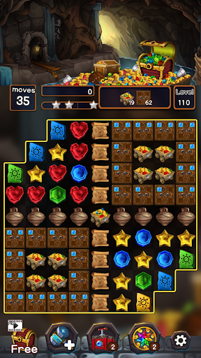 Jewel Mine Quest: Match-3 puzzle apkmr screenshots 7