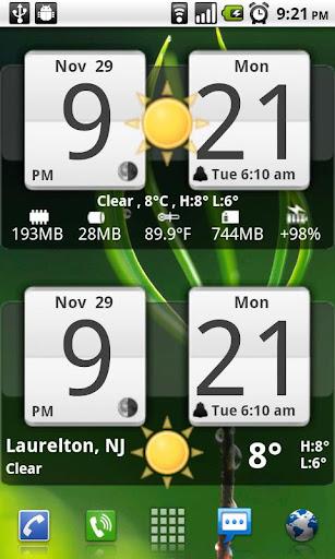 Sense Analog Clock Widget 24 screenshot 1