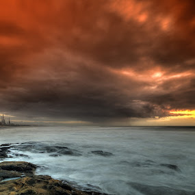 Cloud factory by Raul Nunes - Landscapes Cloud Formations ( clouds, water, sea, factory, sunsey, storm, rocks, rain )