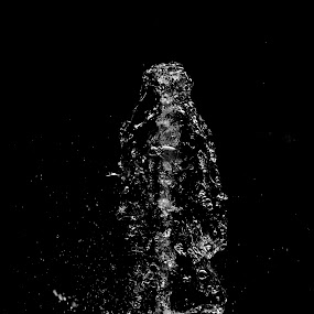 SPIRAL OF WATER by Alexandru Bogdan Grigore - Abstract Water Drops & Splashes ( nature, waterfall, abstract, black and white, water )