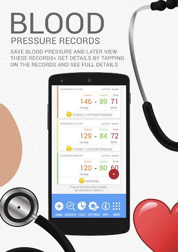 Blood Pressure BP History : Analyze Average Diary  screenshots 2