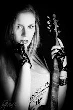 Photo: © 2014 byMaC Photography  http://bymacphotography.com - #2014 #b&w #bymac #danelectro #girl #guitar #pick