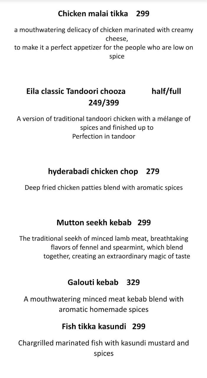 Eila Restaurant menu 2