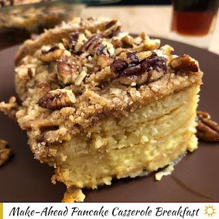 Make-Ahead Pancake Casserole Breakfast Recipe