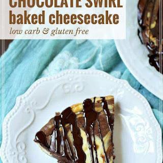 Chocolate Swirl Baked Cheesecake.