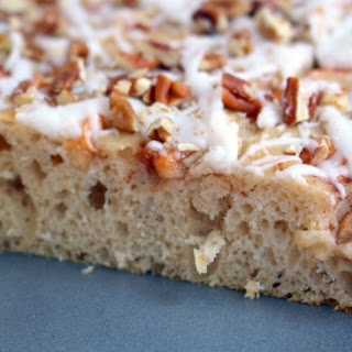 Frosted Apple Cinnamon Snack Cake.